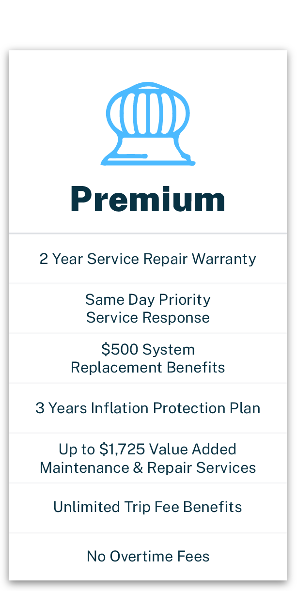 Jacobs Heating and Air Conditioning Premium Maintenance Package with service warranty and benefits