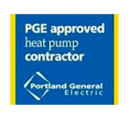 PGE Approved Heat Pump Contractor logo