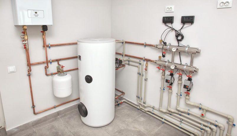 boiler room ready for repair or maintenance